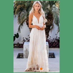 🌴✨HP✨👰🏼Whimsical White Lace Wedding Dress